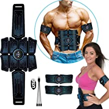 eAnjoy EMS Pads, ABS Stimulator Muscle Toner, Abdominal Toning Belt Muscle Trainer, Portable Fitness Trainer for Abdomen, ...