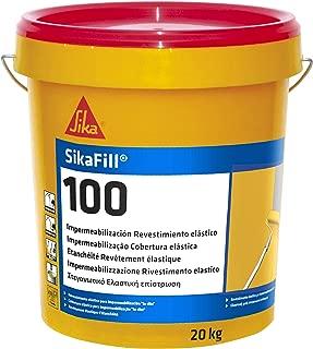 SikaFill-100, Revestimiento elástico para impermeabilización de cubierta, Rojo Teja, 20kg