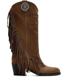 VIA ROMA 15 Luxury Fashion Womens 3259086VELOURMARTORA Brown Boots  