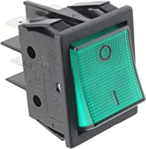 Lincat Echte On/Off Green Rocker Switch (4 terminal).