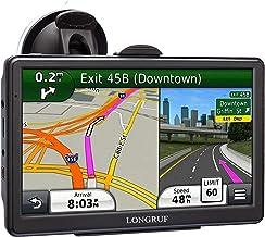 Navegación GPS de 7 pulgadas para coche camión GPS gran pantalla táctil camión GPS sistema de navegación GPS con cámara de velocidad POI advertencia guía de voz carril y actualizaciones de mapas de por vida gratis