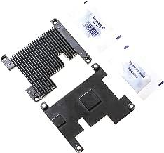 Hikig 2 Piece High Performance Custom Aluminum Heatsink for Raspberry Pi 3 Model B, Pi 2B, Pi 1 B+ with Performance Thermal Compound Paste Color: Black