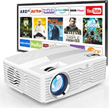 "[Native 1080P Projector with 100Inch Projector Screen] 6800Lumens LCD Projector Full HD Projector Max 300"" Display, Compat..."