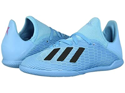 adidas Kids X 19.3 IN Soccer (Little Kid/Big Kid) (Bright Cyan/Black/Shock Pink) Kid