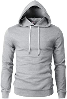 Sponsored Ad - H2H Mens Casual Slim Fit Long Sleeve Hoodie Lightweight Basic Designed