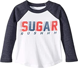 Supfer Soft Sugar Rush Long Sleeve Raglan Tee (Toddler/Little Kids)