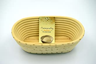 Masterproofing 2 Pcs Oval Banneton Proofing Basket(500g Dough)