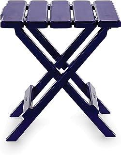(نافي بلو، منتظم) - طاولة بجوانب قابلة للطي للاستخدام الخارجي قابلة للطي، مثالية للشاطئ، والتخييم، والنزهات، والطهو وأكثر ...