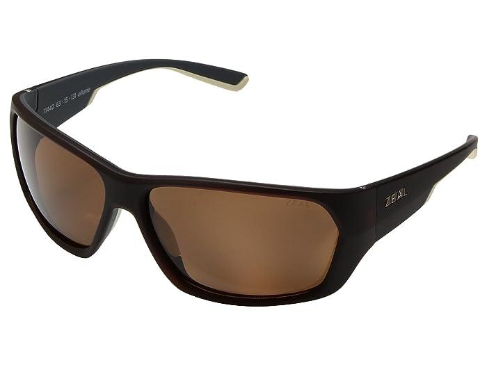 Zeal Optics  Caddis (Matte Brown Khaki with Polarized Copper Lens) Polarized Fashion Sunglasses