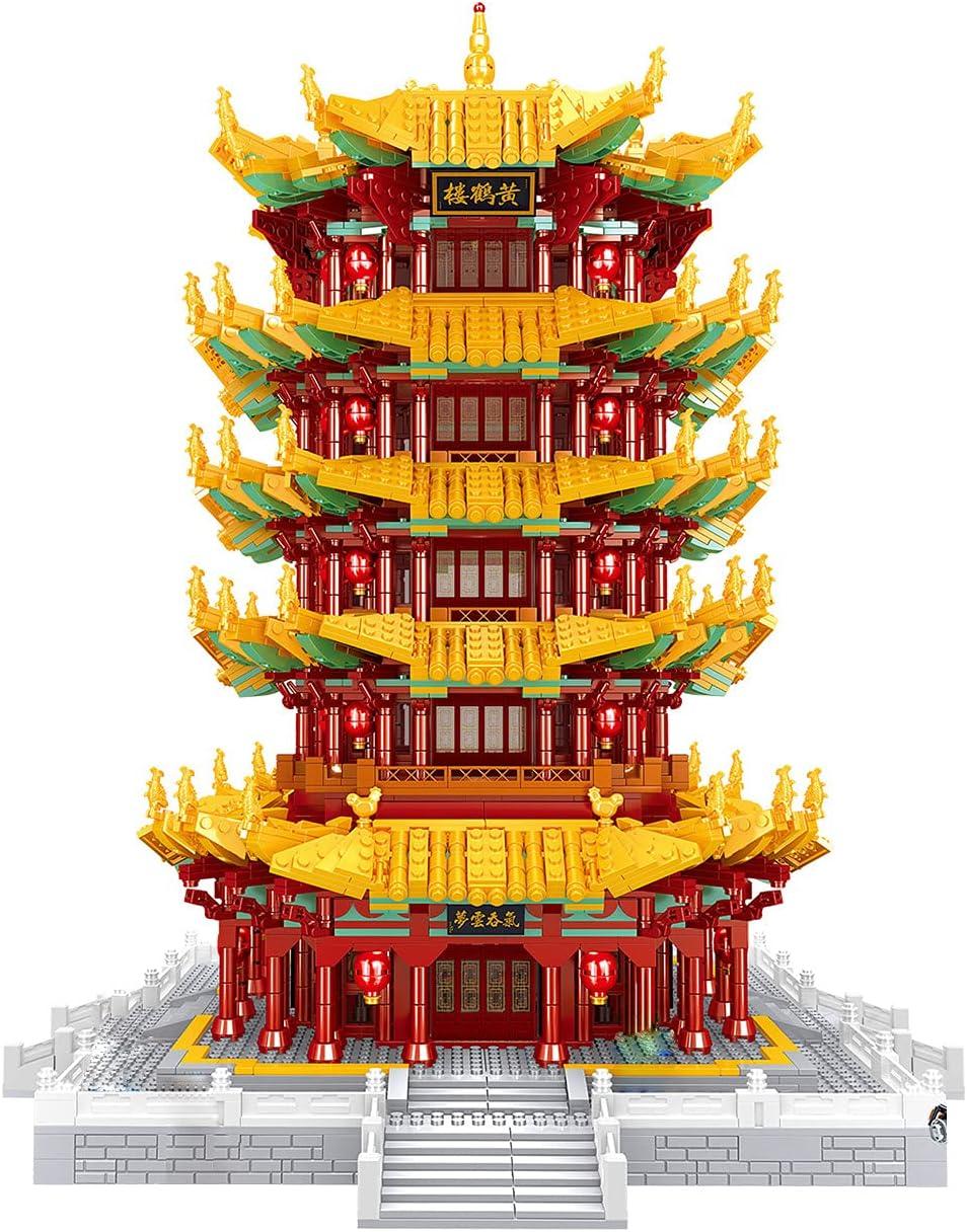 OFFicial shop QREZ 8260 Pcs 3D Puzzles Architecture Arc Model Ancient Chinese High order
