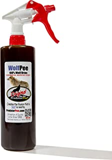 Predator Pee 100% Wolf Urine - Territorial Marking Scent - Creates Illusion That Wolf is Nearby - 16 oz