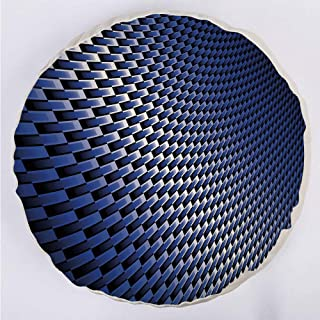 YOUWENll Round Decorative Throw Pillow Floor Meditation Cushion Seating/Curvy Carbon Fiber Texture Image Abstract Industrial Modern Grid/for Home Decoration 17