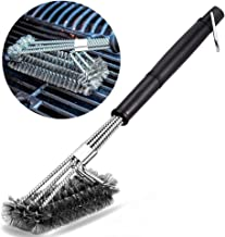 qinger bow 1 cepillo de barbacoa altamente resistente - cerdas de acero inoxidable para limpiar