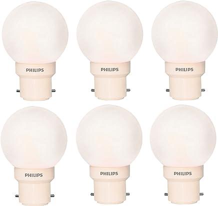 Philips Deco Mini Base B22 0.5-Watt LED Bulb (Pack of 6, White)