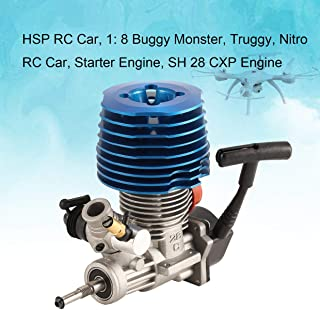 MXECO HSP RC Car 1: 8 Buggy Monster Truggy Nitro Engine SH 28 CXP Engine M28-P3 4.57CC 3.8hp 33000 RPM Side Exhaust Pull Starter