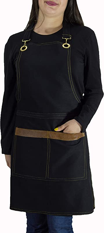 ROFF Apron For Women And Men With Pockets 100 Turkish Cotton Gabardine Fabric