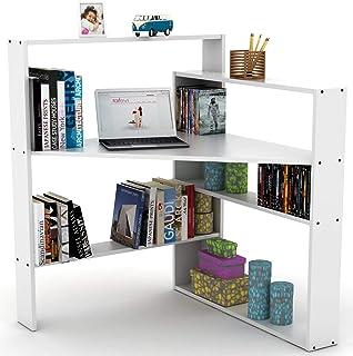 Rafevi Pisager Corner Desk مثالي للمنزل أو المكتب أو المكتب أو المكتب أو المكتب (أبيض)