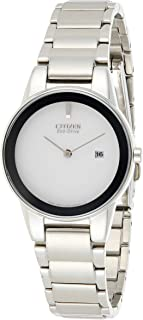 CITIZEN Womens Solar Powered Watch, Analog Display and Stainless Steel Strap - GA1050-51A