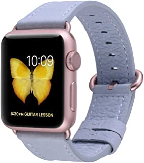 JSGJMY Compatible with Apple Watch Band 38mm 40mm 42mm 44mm Women Men Genuine Leather Wrist Strap Compatible with iWatch Series 5 4 3 2 1 Sport Edition