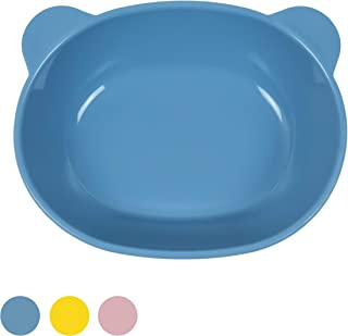 Blue Ginkgo Silicone Kids Bowl/Plates - Self Training Baby and Toddler Stay Put Feeding Supplies - Made in Korea - BPA Fre...
