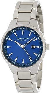 ساعة كينيث كول للرجال بمينا ازرق و سوار من ستانلس ستيل - KC50488006