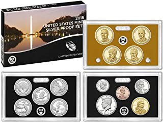 2015 S U.S. Mint Silver Proof Set - 14 Coins - OGP Superb Gem Uncirculated