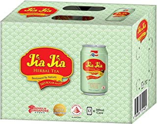 JJ JiaJia Herbal Tea No Sugar Added, 300 ml (Pack of 12)