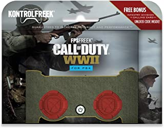 KontrolFreek FPS Freek Call of Duty: WWII for PlayStation 4 Controller (PS4) | Performance Thumbsticks | 2 High-Rise Conca...