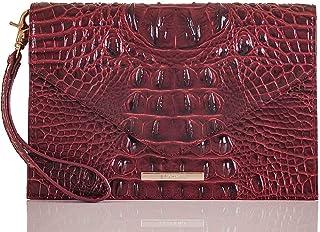 Brahmin Ady Slim Wallet Croco Emb Leather Toasted Almond
