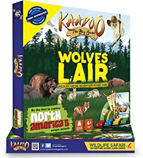 KAADOO Wolve's Lair-Explore North America-Wildlife Safari Adventure-Educational Family Fun Board Game for 6+ Year Olds-Mad...