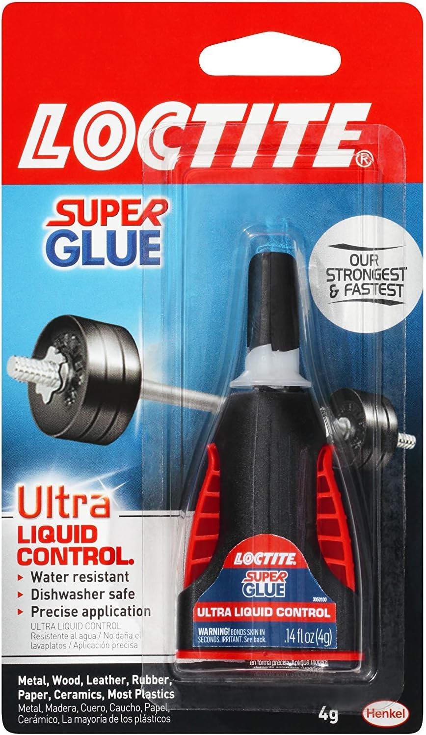 Loctite Super Glue, Ultra Liquid Control 0.14 oz (Packs of 6)