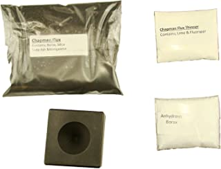 Cone Conical Mold + 1Lb Chapman Flux & 2 Tbsp Thinner- 2 Tbsp Anhydrous Borax Assy Gold Silver Black Sand