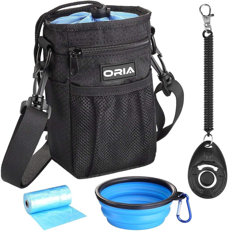 ORIA clicker per l'addestramento e la passeggiata per l'addestramento di ripiego di pranzo unit à di polvere impermeabile, leggero e conveniente set di 4 -pezzo con borsa