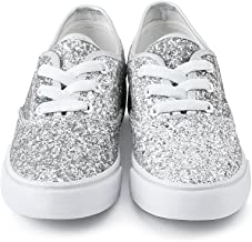 Balera Shoes Girls for Dance Womens Sneakers with Glitter Lace Up Shoes