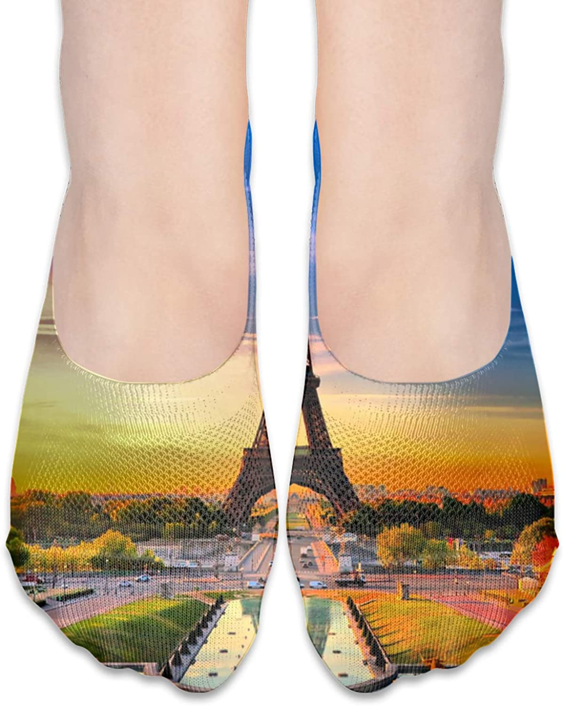 Eiffel Tower In Paris In The Sunset Comfortable Boat Socks-Sweat Wicking Non-Slip Socks Leisure Sports Deodorant Foot Socks