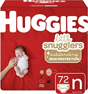 Huggies Little Snugglers Diapers,  Size Newborn,  72 Count (Packaging May Vary)