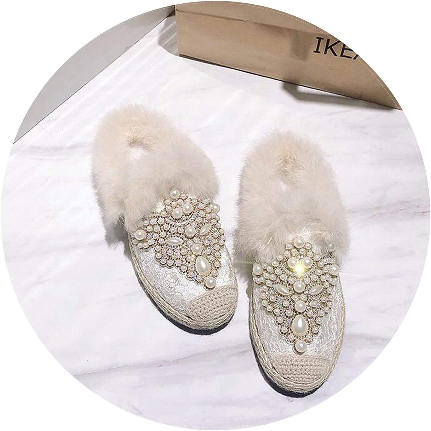 Summer-lavender Loafers Women shoes Fashion Ladies Cotton Slippers Women Crystals Women Loafers