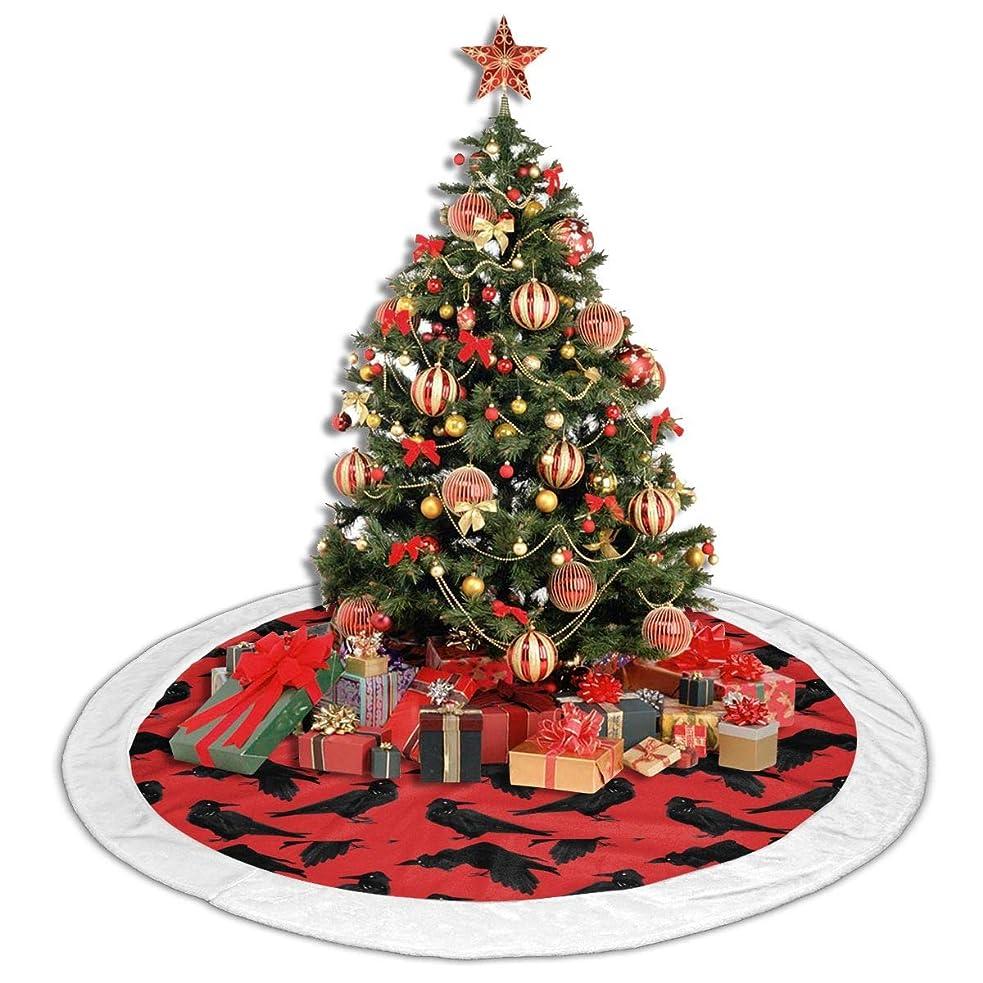 単調な地上の米ドルRIRIBOC クリスマスツリースカートCrow 足元布 クリスマス飾り 円形 サンタクロース ツリースカート ホワイト ツリー下用 可愛い 豪華 ベースカバー オーナメント ツリースカート 飾りツリー 下敷物 新年パーティー クリスマス雰囲気を楽しみ