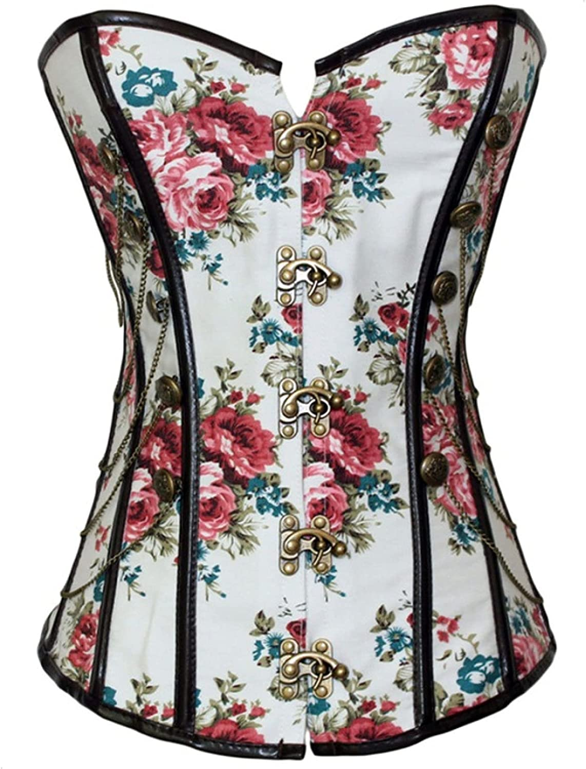 Overbust Corsets for Womens Elegant Bustier Fashion Tummy Contro