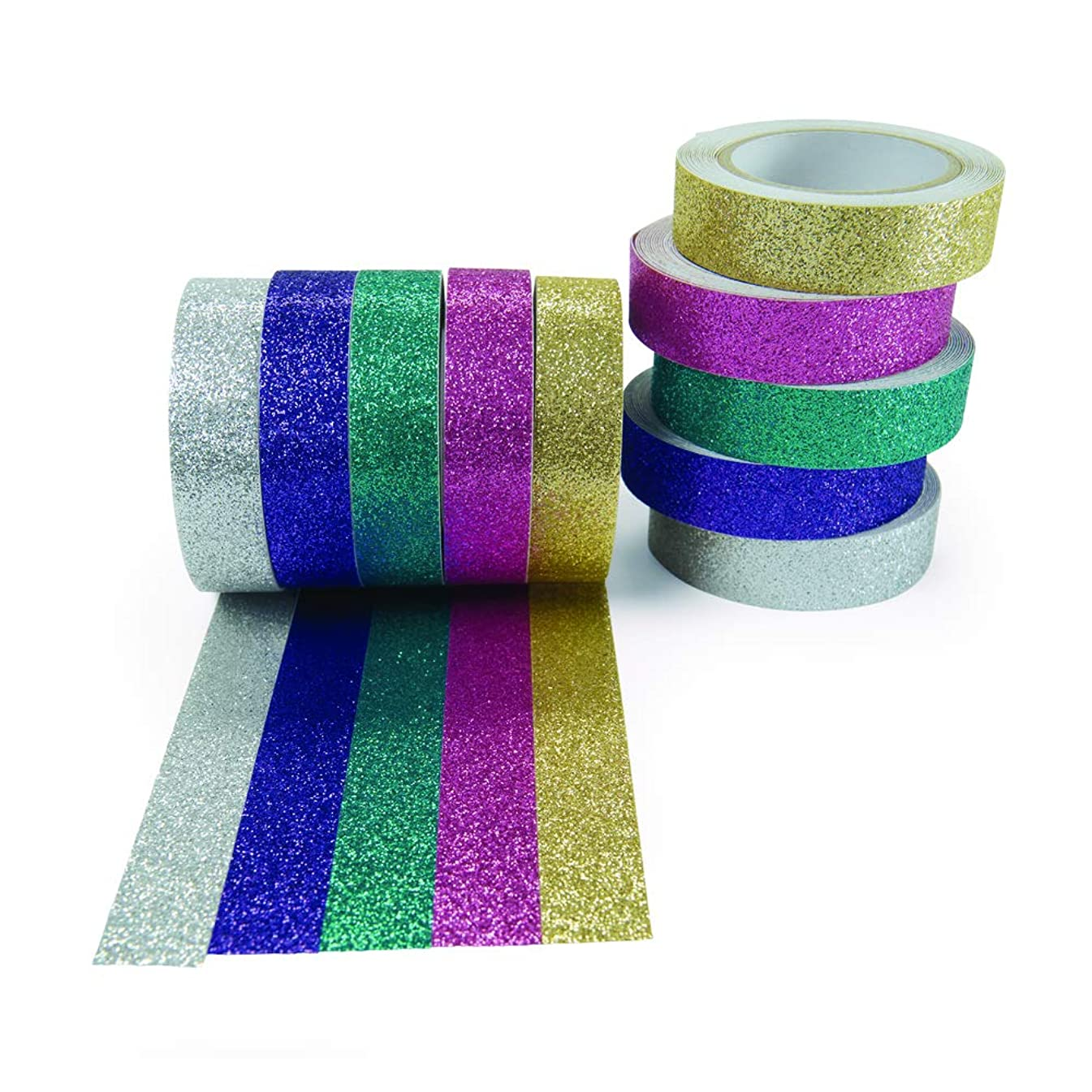 Colorations Snazzy Glitter Craft Tape (Pack of 10)