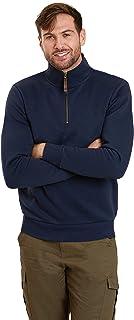 Mountain Warehouse Mens Zip Neck Top - 100% Cotton Spring Pullover, Lightweight Sweatshirt, Half Zip, Fleece Lined, Warm &...