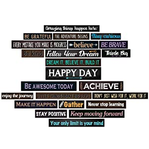 23 Pieces Inspirational Bulletin Board Decorations Motivational Banners for Classroom Laminated Quote Positive Affirmation Motivational Banners with Welcome Sign for Wall Decor Teachers Students