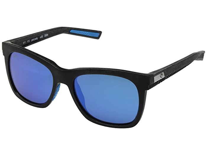Costa  Caldera (Net Gray/Blue Rubber Blue Mirror 580G) Athletic Performance Sport Sunglasses