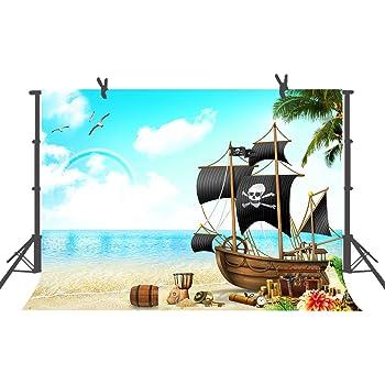 Amazon.com : CapiSco 7X5FT Pirate ShipTheme Backdrop