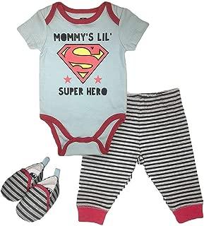 Infant Boys Batman Clothing Set - DC Comics Batman Short Sleeve Bodysuit, Pants and Shoes Set