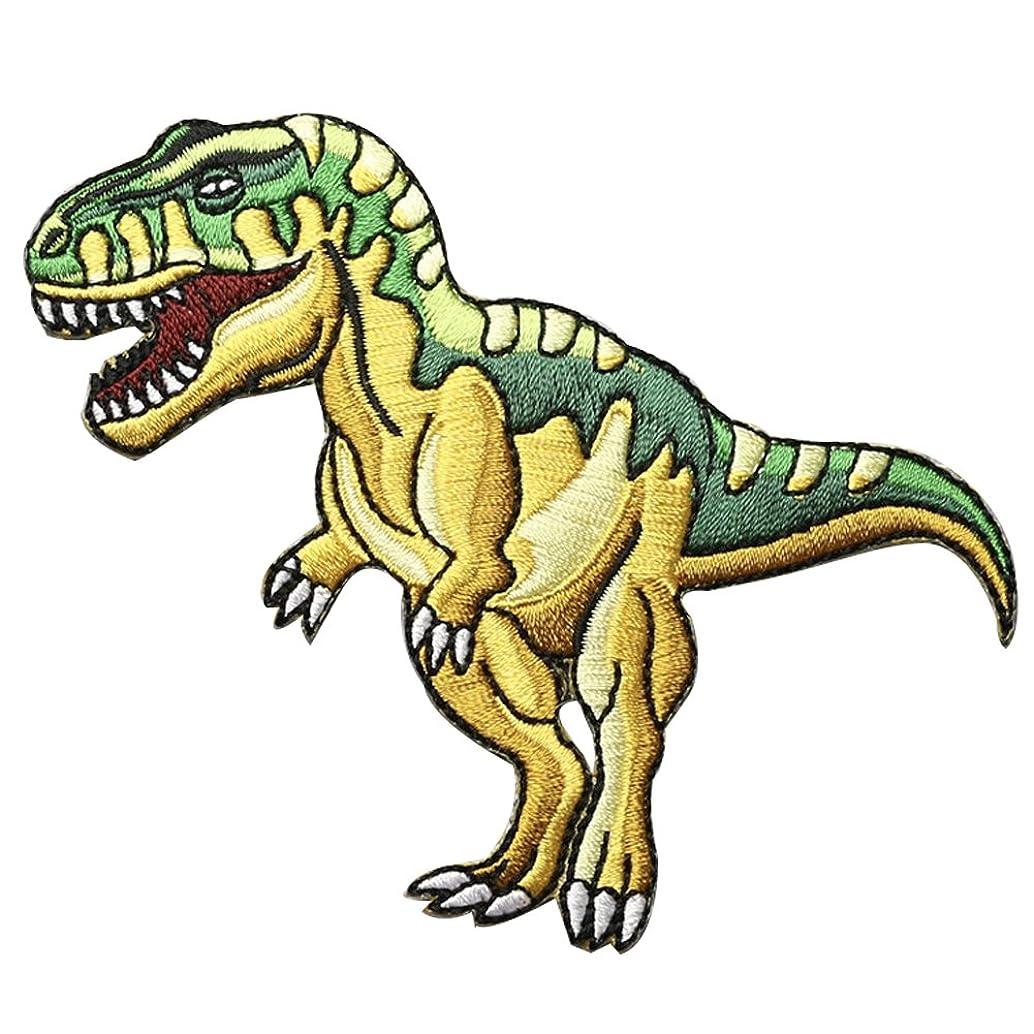XUNHUI Dinosaur Animal Extinct Tyrannosaurus Velociraptor Embroidered Iron On Applique Patch 1 Piece