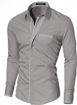 MODERNO - Camisa Casual Manga Larga para Hombre (VGDS41LS)