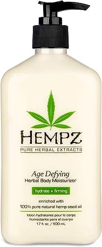 Hempz Body Moisturizer - Daily Herbal Moisturizer, Shea Butter Anti-Aging Body Moisturizer - Body Lotion, Hemp Extrac...