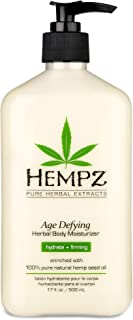 Hempz Body Moisturizer - Daily Herbal Moisturizer, Shea Butter Anti-Aging Body Moisturizer - Body Lotion, Hemp Extract Lot...