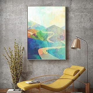 FTFTO Équipement de Vie Peinture Suspendue Peinture de Salon Matériel de Toile Peinture de Paysage Salon Canapé Fond Mur e...